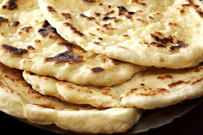 <strong>...toasted pita bread.</strong>