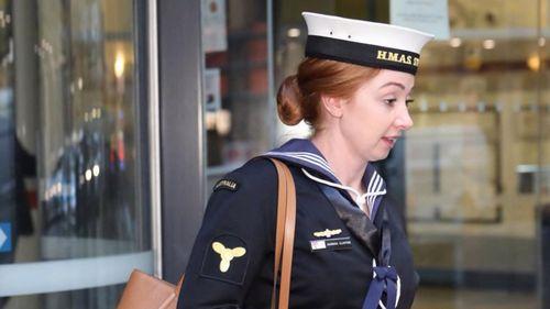 Able seaman Hannah Clayton allegedly assaulted fellow sailor Jarrad Pluckrose in 2017.