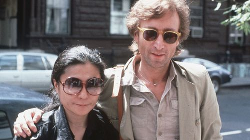 Yoko Ono and John Lennon in a photo taken a month before his death.