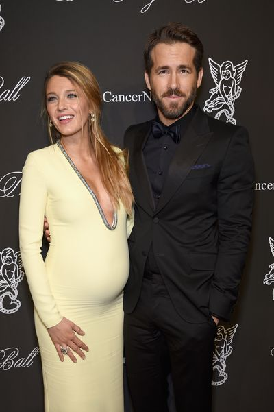 Blake Lively and Ryan Reynolds at the Angel Ball 2014 hosted by Gabrielle's Angel Foundation at Cipriani Wall Street on October 20, 2014