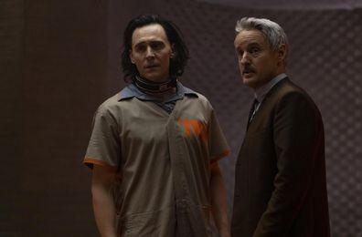 Owen Wilson, Agent Mobius, Tom Hiddleston, Loki