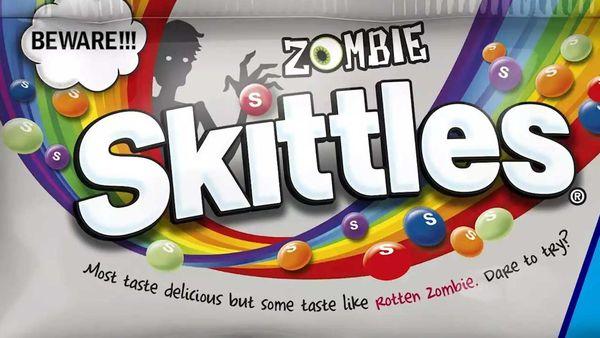 Zombie Skittles for Halloween