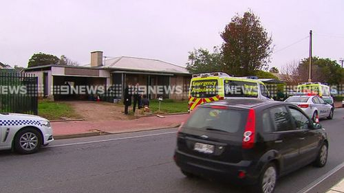 Police said a large number of people were inside the home at the time. (9NEWS)