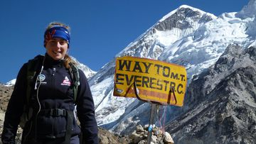Australian teen Alyssa Azar, 17, is determined to continue her climb to the top of the world (Facebook).
