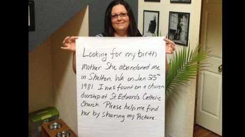Woman turns to Facebook to find birth mother