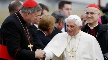 Cardinal George Pell with Pope Benedict XVI.