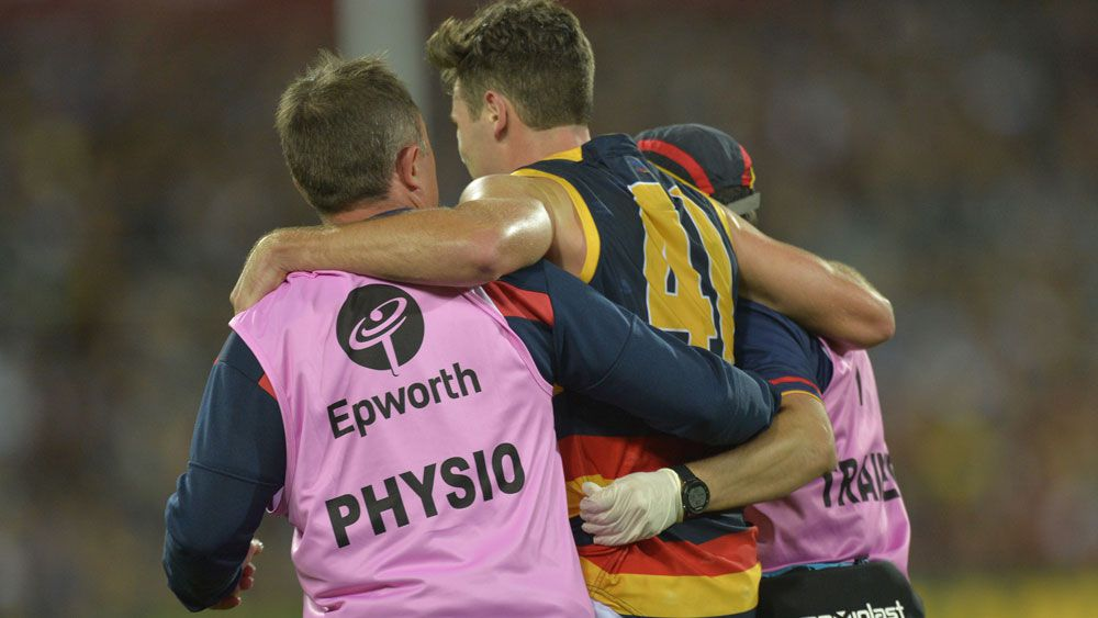 AFL news: Adelaide Crows Mitch McGovern injures hamstring before Geelong preliminary final