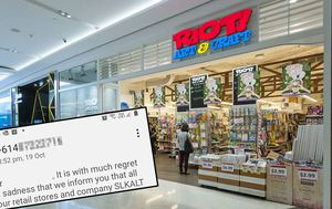 Staff sacked by text message after all Riot Art & Craft stores close