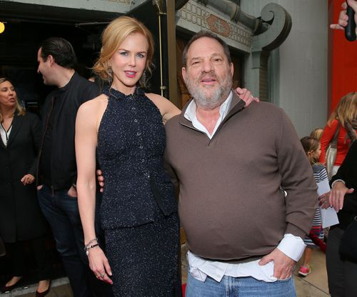 Actress Nicole Kidman and Harvey Weinstein attend the premiere of TWC-Dimension's 'Paddington' at the TCL Chinese Theatre IMAX, in 2015.
