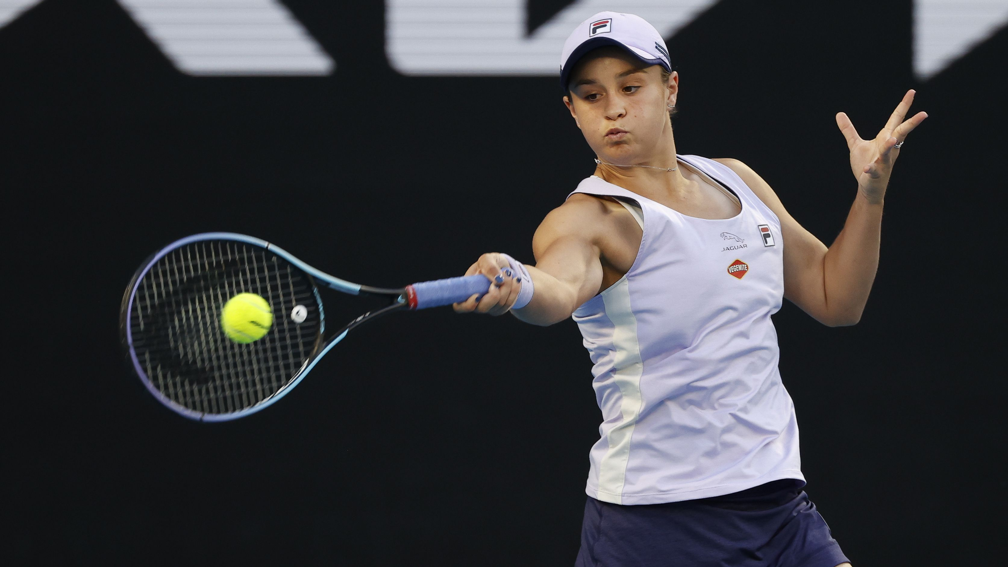 Ash Barty tears through opening round of Australian Open