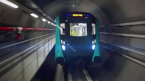 The driverless train has undergone its first day of testing.
