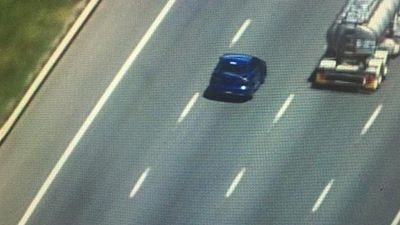 The car reached high speeds on the open road. (9NEWS)