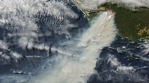 NASA captures image of Northcliffe blaze from space