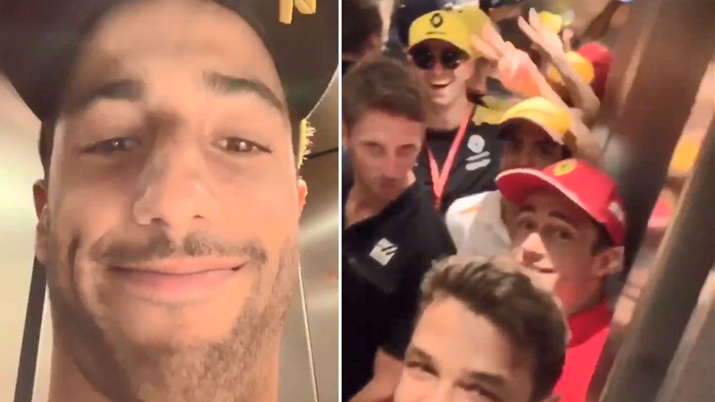 Ricciardo was stuck in an elevator before the German Grand Prix