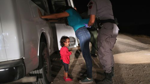 This is the original image of the child that outraged millions. Picture: Getty