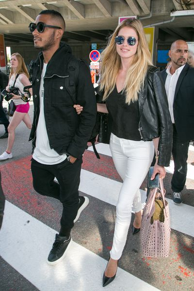 <p>The dress code for arriving atCannes-Mandelieu Airport wasjeans and leather jackets for these A-listers.</p>