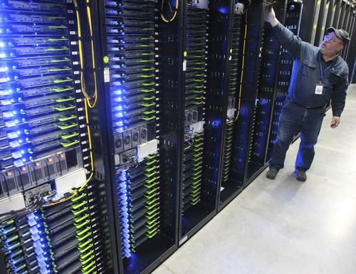 The computer servers that store users' photos and other data in the US.