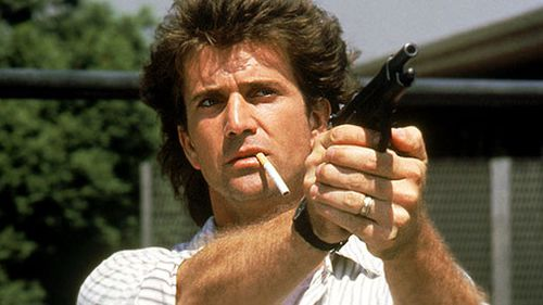 Mel Gibson as Martin Riggs in Lethal Weapon.