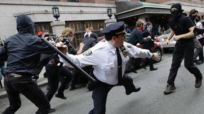 During the Occupy Wall Street protests, many police were given the chance to practice their billy club skills.