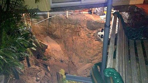 The sinkhole in Swansea. (supplied)
