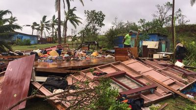 Ahmad Sami from the Red Cross' Pacific office priorities were restoring power and repairing damaged homes, as well as maintaining drinking water supplies in more than 700 evacuation centres. (AAP)