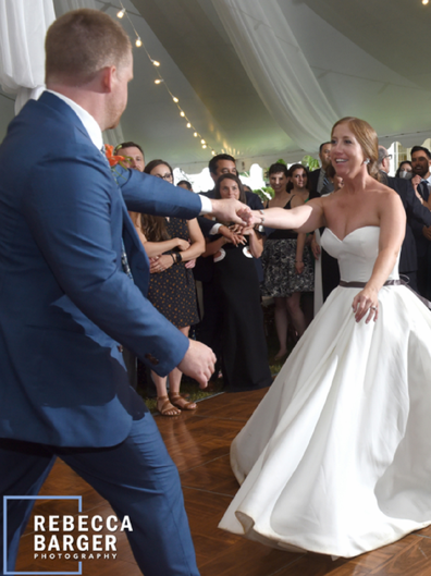 It was during their first dance that the bride suffered the horrific injury.
