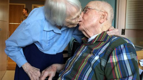 Pair of centenarians celebrate 75 years of marriage