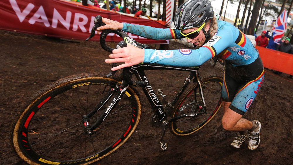 A motor was found in the bike of Femke Van Den Driessche's bike during the recent cyclo-cross world champs. (AAP)