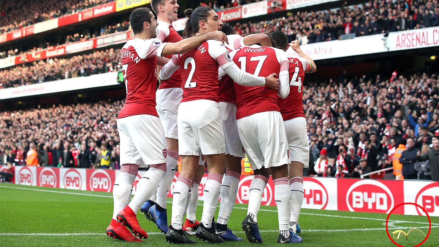 Arsenal star has banana peel thrown at him