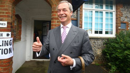 Nigel Farage has resigned as UKIP leader. (AAP)