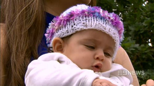 Baby Davina was thrown onto the bonnet of a car when it crashed into her grandmother. (9NEWS)