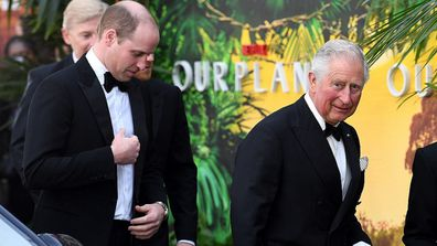 The Duke of Cambridge and The Prince of Wales attending the global premiere of Netflix's Our Planet, held at the Natural History Museum, London.