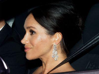 Meghan's diamond chandelier earrings