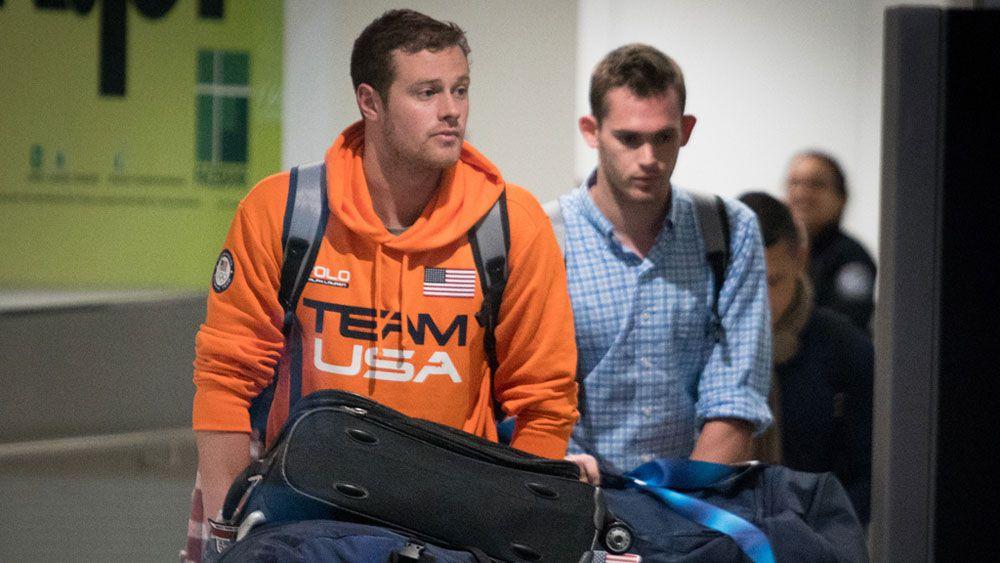 Jack Conger, left, and Gunnar Bentz (AFP)