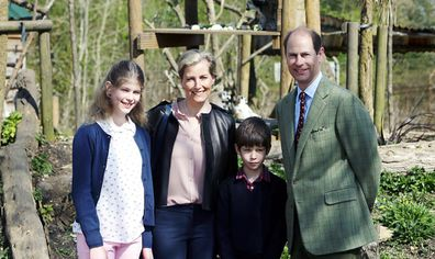 Earl and Countess of Wessex with children Louise and James.