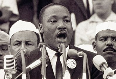 """Martin Luther King Jr giving """"I Have a Dream"""" speech (Getty)"""