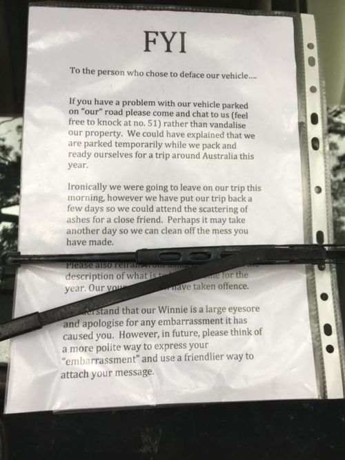 Typed out notes have been printed and published in reply to the original complaint. (Twitter)