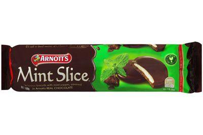 Mint Slice: 81 calories/339kj per biscuit