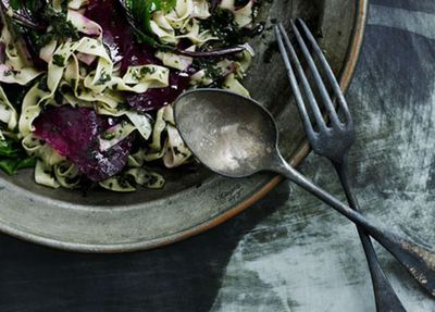 """<a href=""""http://kitchen.nine.com.au/2016/05/17/11/14/fettuccine-with-beetroot-and-nettle-butter"""" target=""""_top"""">Fettuccine with beetroot and nettle butter<br> </a>"""