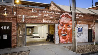 Melbourne warehouse conversion features Mark Zuckerberg mural