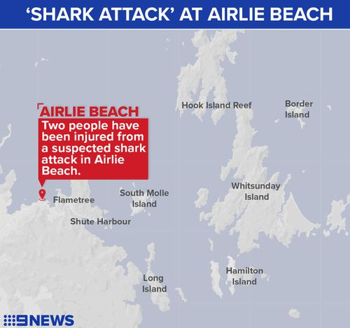 Shark bites 2 British men on Australia's Great Barrier Reef