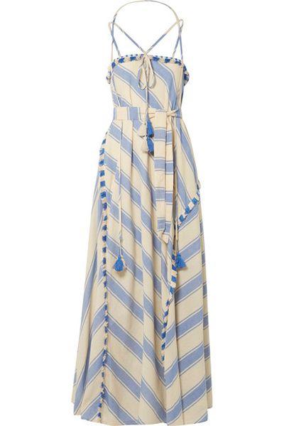 "<em><a href=""https://www.net-a-porter.com/au/en/product/1013263/dodo_bar_or/pedro-tasseled-striped-cotton-gauze-maxi-dress"" target=""_blank"">Dodo Bar Or Pedrotasseled striped cotton-gauze maxi dress $346.68&nbsp;</a></em>"