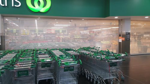 The outage affected numerous Woolworths stores across Australia, including the Malvern Central outlet in Melbourne (pictured).