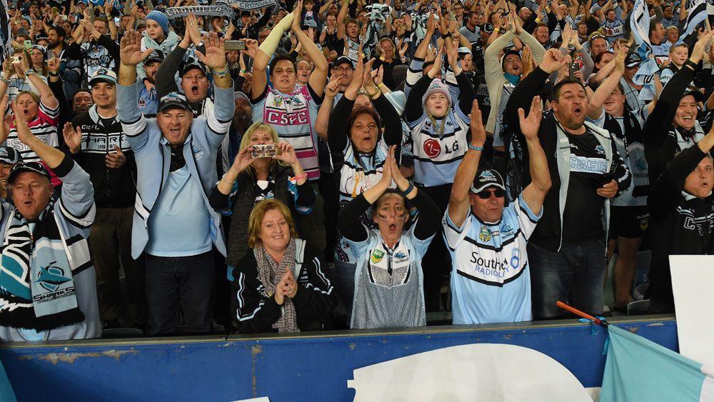 Sharks fans have stolen the Viking Clap. (AAP)