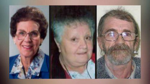 Phyllis Harrison, Beverley Hanley and Stephen Newton were killed in South Australia.