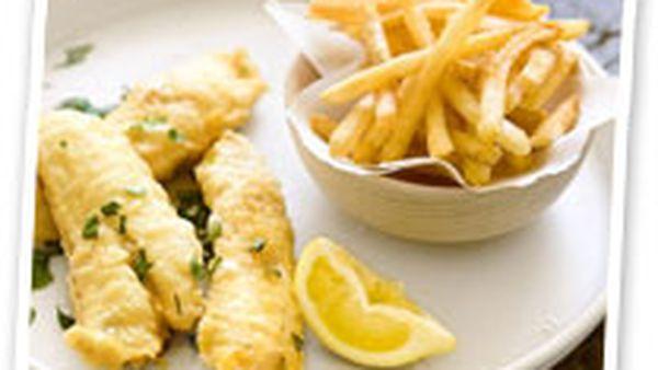 Flathead fillets with tempura butter