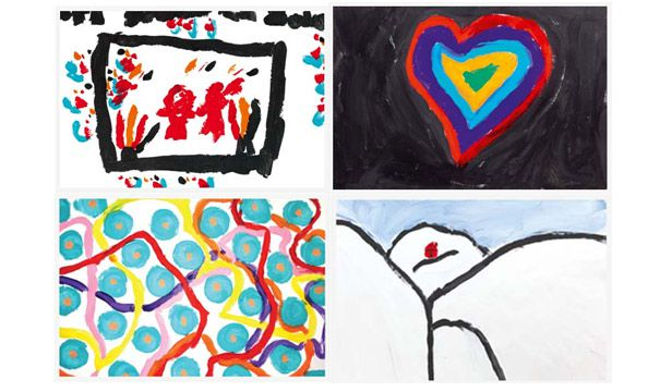 Some of the artwork auctioned off at the Made To Grow launch.