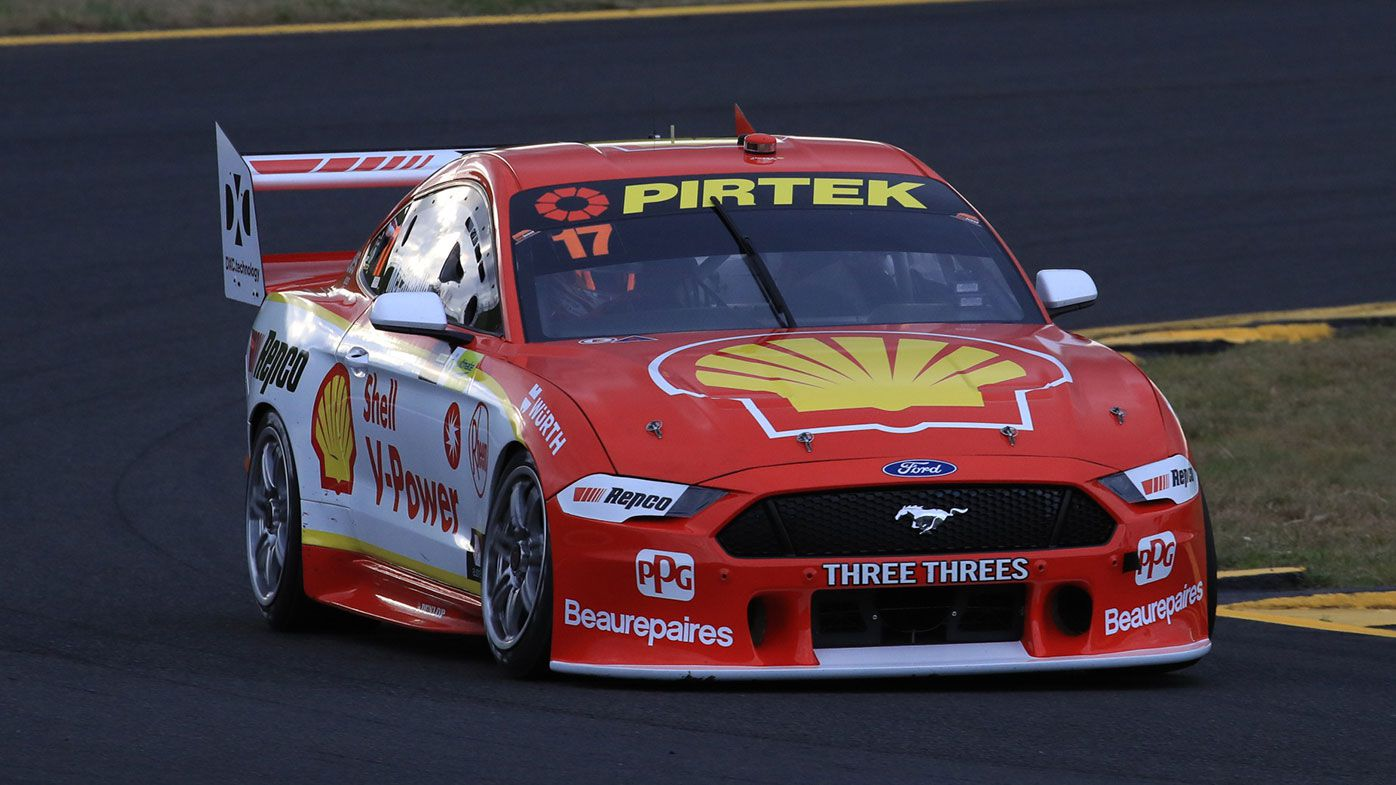 Scott McLaughlin won the opening race of the Supercars round at Sydney Motorsport Park.