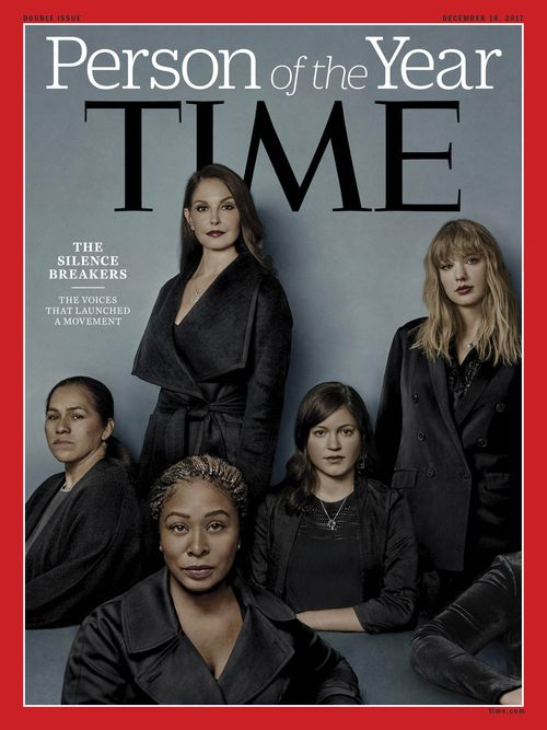 Judd and members of the #MeToo campaign were named TIME magazine's Person of the Year. (Supplied)