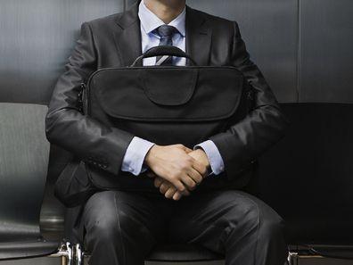 Man waiting at job interview